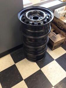 4 Black Steel Rims 15 x 6.5 (TBS Engines 1979)