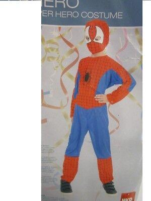Superhelden Kinder Kostüm Spinne rot blau Gr. 6 bis 8 Jahre Karneval (Blau Superhelden Kostüme)