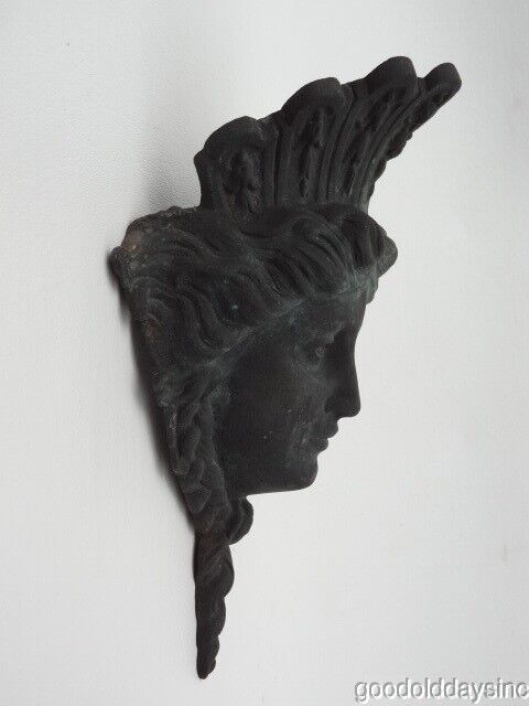 Ornate Bronze Head Salvaged from Chicago - Victorian Face - Building Adornment