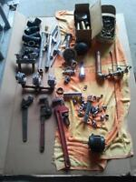 Plumbing tools and accessories lot