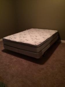 Queen box spring and mattress set