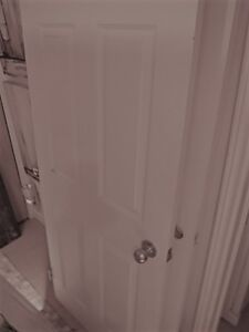 2 White Colonial Style Doors