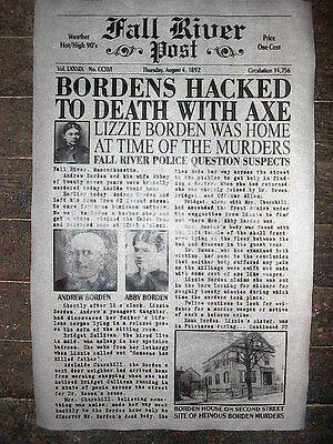 (325L)NOVELTY POSTER HALLOWEEN LIZZIE BORDEN FALL RIVER MASS. AXE MURDER 11