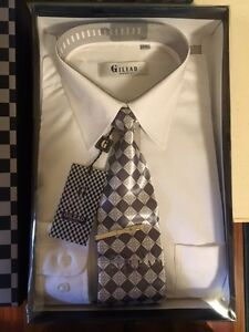 New: White dress shirt and tie styled in Italy size 15/15.5 M