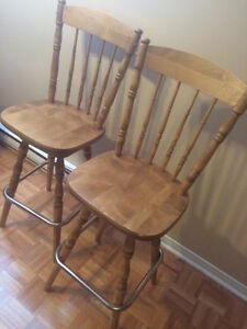 Solid wood Deluxe bar stools swivel