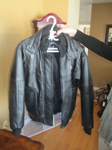 Northface Women's Black Leather Jacket