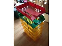 Filing tray/paper organiser set for office or home use.