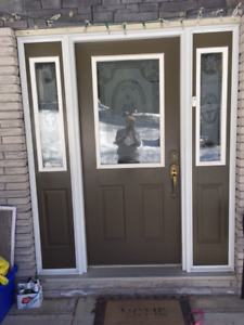 Entrance Door with  two sidelite