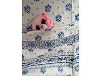 PROVENCAL - BABY COT SET - FLAT SHEET/PILLOW CASE - LES OLIVADES - NEW