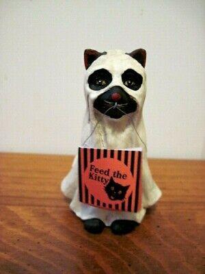 "Bethany Lowe NEW Halloween ""Spooky Cat"" Ghost Figure"