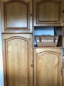 Cherry wood cabinets x 20 various sizes