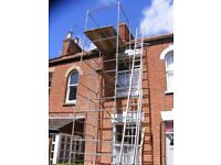Scaffold tower galv steel 17ft 10ins deck, plus hand rail. Also roof ladders available.