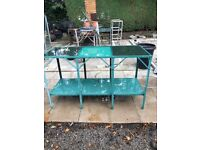 Top of the range greenhouse bench + one normal one for sale