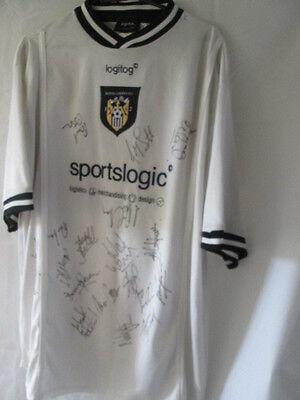 Notts County 2000-2001 Squad Signed Away Football Shirt with COA 13952 image
