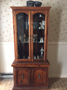 Glass Display Cabinet (items showing inside not included)