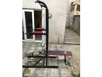 Tec Take Dip Power Station with sit up/ pull up/ push up bar