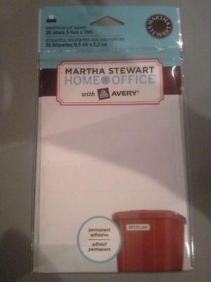Martha Stewart Home Office Avery Waterproof Labels - 36- 1 58 X 1 34
