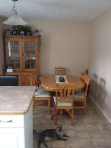 Kitchen table and hutch