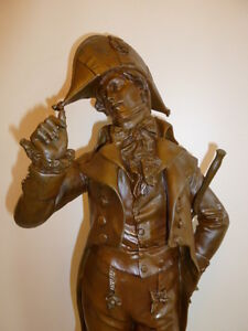 Large antique French bronze of Robespierre signed L0RMIER, 1890