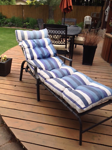 Reclining Patio Chaise Lounger