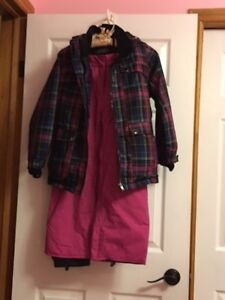 Girls 2 Piece Winter Jacket with Snow Pants
