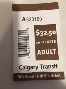 Calgary transit tickets - books of 10