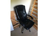Black Leather Computer Chair