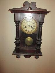 Small Antique Junghans German Vienna Regulator Wall Clock