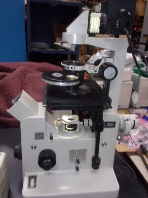 Nikon Diaphot Inverted Contrast Microscope With 2 Lamps And Power Supply More