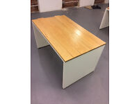 Solid hardwood top desks. Beautiful grain of wood visable. x4 available