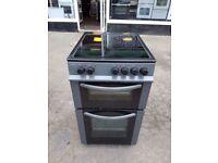 BUSH Graphite 50cm Freestanding electric cooker