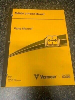 Vermeer M6050 3 Point Mower Factory Oem Parts Catalog Manual Book Sku G