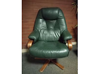 Lovely green, retro-style swivel chair