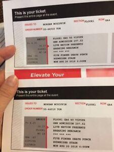 Breaking Benjamin/FFDP VIP tickets