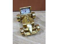 F1 Racing Car Churchill Miniature Clock