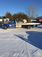 1997 Ford F-Super Duty Flatbed Tow Truck with Wheel Lift