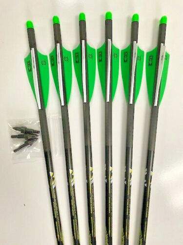 """Victory Archery X-BOLT 20"""" Half Moon Crossbow Bolts 6 Pack with free points  !!"""
