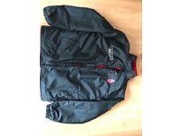 Ulster Lightweight Fleece Black and Red Jacket - Medium