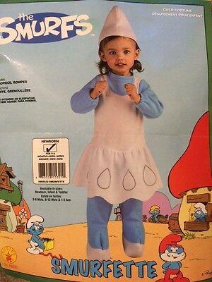 SMURFETTE * Halloween Costume * Newborn 0-6 Months * NIB - Newborn Halloween Costumes 0 6 Months