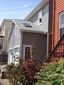 North End, house, 4 bed, cat, working art studio/loft, May 1st