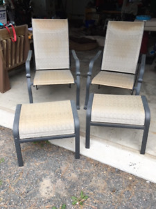 Patio chairs w/ottomans