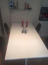 Ikea NORDEN white gateleg dining table