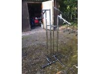 Floor Standing Chrome Finish Clothes Rail , Buyer Collects
