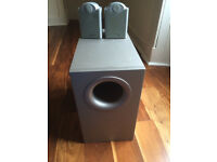 Tannoy FX5.1 Subwoofer and 2 speakers