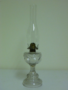 Queen Mary clear glass antique lamp