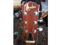 Guitar Fender resonator fr50 with Hiscox case