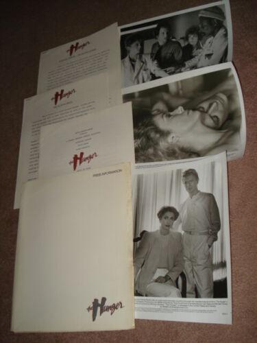 THE HUNGER Original 1983 Press Kit w/Stills Catherine Deneuve & David Bowie