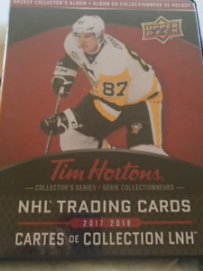 2017-18 cartes de Hockey Tim hortons /hockey cards /master set
