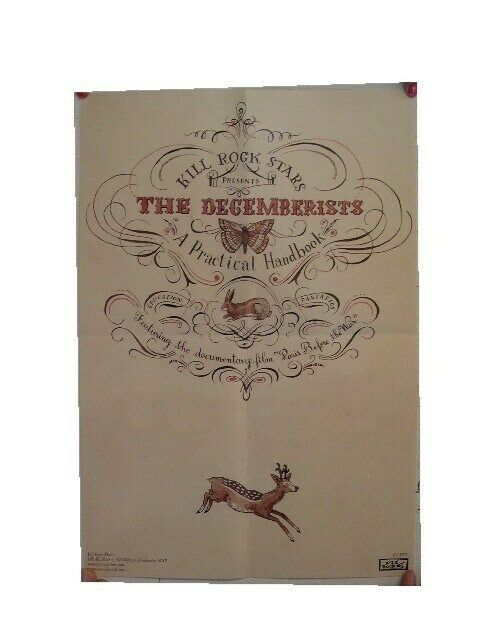 The Decemberists Poster Kill Rock Stars Handbook