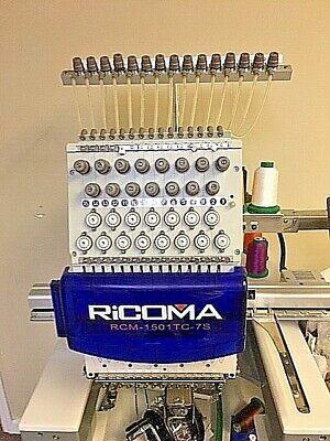Ricoma Rcm 1501tc - 7s Single Head Needle Embroidery Machine With Stand